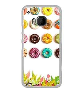 Colourful Doughnuts 2D Hard Polycarbonate Designer Back Case Cover for HTC One M9 :: HTC One M9S :: HTC M9 :: HTC One Hima