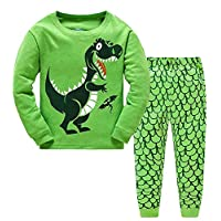 TEDD Boys Pyjamas Dinosaur Nightwear Cotton Toddler Clothes Kids Sleepwear Winter Long Sleeve Christmas Pjs Sets 2 Piece Outfit Xmas Gift