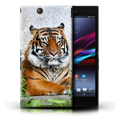 KOBALT® Hülle Case für Sony Xperia Z Ultra | Löwe Entwurf | Wilde Tiere Kollektion Tiger
