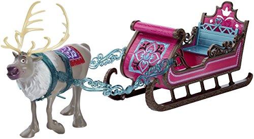 Mattel CMG64 Disney Princess - Modepuppen und Zubehör - Die Eiskönigin Sven und Schlitten Geschenkset