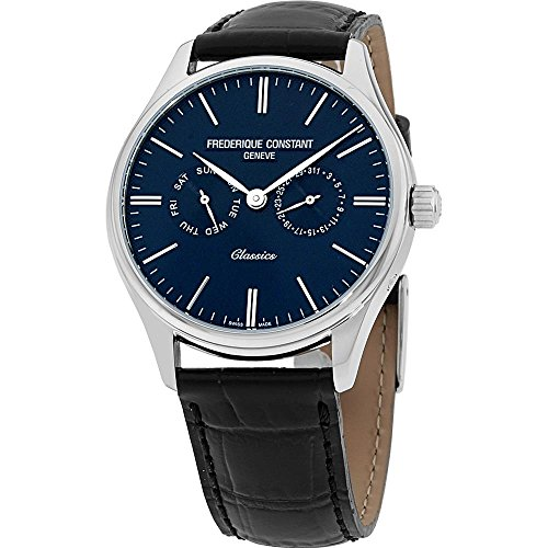 Frederique Constant Men's Classics 39mm Leather Band Quartz Watch FC-259BNT5B6