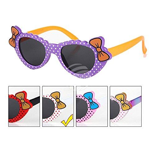 Loox Brille Sonnenbrille Kinder Mädchen mit Punkten & Schleife-k-85 Einheitsgröße Weiß