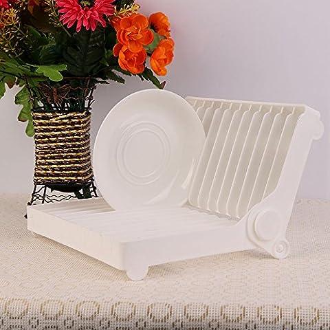 nsrzhp Sish pieghevole in plastica porta cornice di plastica organizzatore goccia piatto pieghevole scolapiatti pieghevole scolapiatti, Contenitore da cucina in plastica contenitore