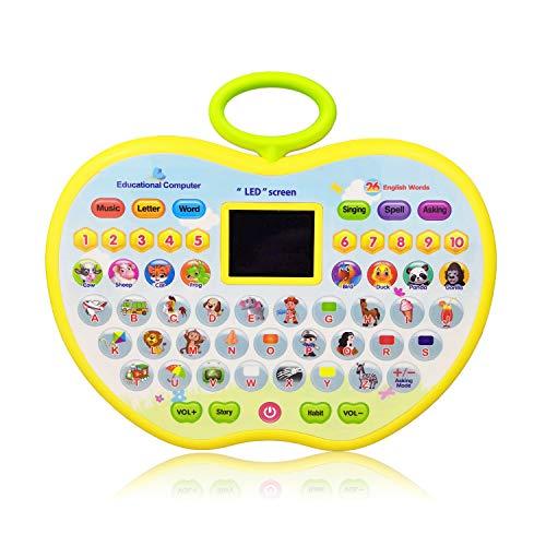 Lernspielzeug für 4 Year Olds Mädchen, Lernspielzeug für 1-3 Jahre alten Jungen Baby Kids Tablet Spielzeug für 2 Jahre alten Mädchen Apple Computer Spielzeug für 9-18 Monate Kleinkind