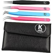 K-Pro Juego de pinzas para extensiones de pestañas postizas y cosméticos