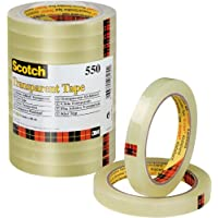 Scotch Ruban AdhéSif 550 Transparent 12 Mm X 66 M Lot de 12