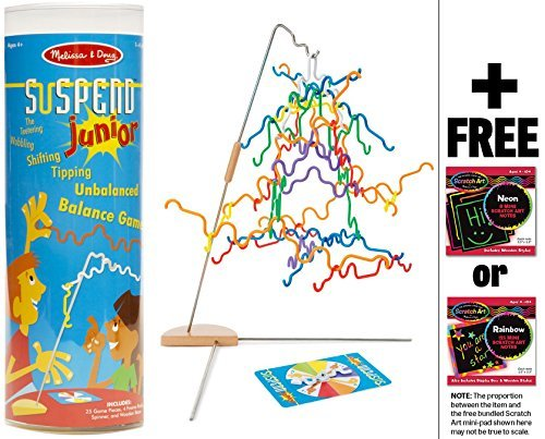 Suspend Junior - Family Game + FREE Melissa & Doug Scratch Art Mini-Pad Bundle by Melissa & Doug
