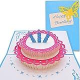 #7: Yolopop Handmade Happy Birthday Cake Pop Up Greeting Card