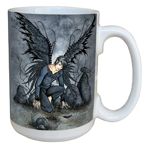 Tree-Free Greetings lm43580 15 oz Fantasy Raphael Male Fairy Ceramic Mug with Full Sized Handle