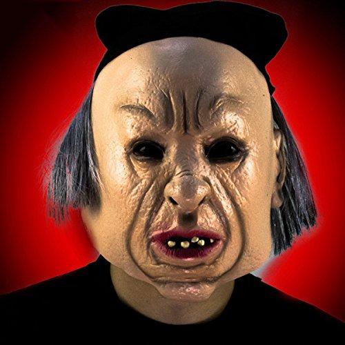 Halloween Maske Männer Und Frauen Aufführung Bar Nacht Lustig Alter Mann Mit Haaren Anime Beängstigend Schrecklich ()