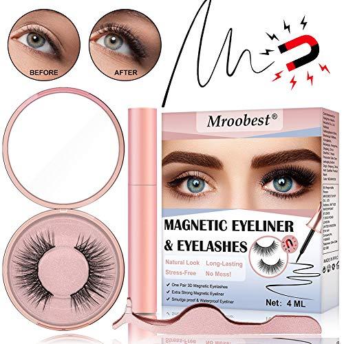 Licht Gesicht Waschen (Magnetische Wimpern, Magnetic Eyeliner, Magnetische Wimpern Eyeliner, Wasserdichter, Langlebiger Eyeliner Mit Wiederverwendbare Falschen Wimpern Magnetischer Eyeliner)