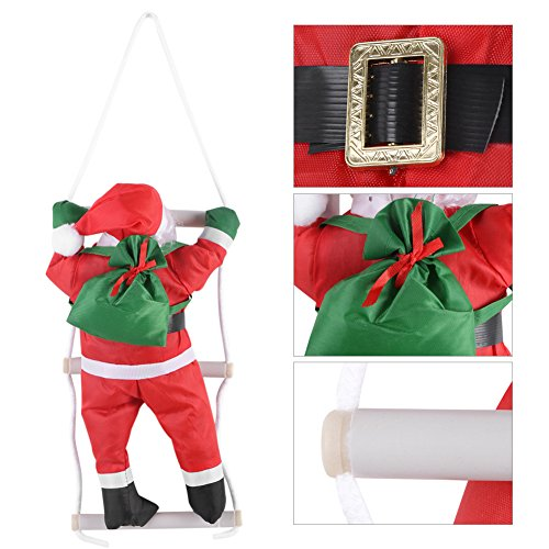 Salendo su rope ladder babbo natale albero di natale indoor e outdoor ornamento appeso natale decorazione festa porta muro decorazione, decorazioni natalizie, decorazioni per alberi di natale