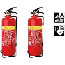 Smartwares Juego de 2handliche extintor de espuma, 2litros, clases de fuego a, b, Brand combatir, sb2sw