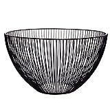 Somedays Obstschale, oval,Eisen,Wires Korb Ø 25 cm,25.5*14.5*10CM,Schwarz
