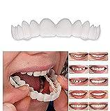 2 PCS/Set (Dentier supérieur et inférieur) Supérieur et inférieur Haute qualité Dentaire Instant Smile Comfort Fit Flex Dents cosmétiques Dentition Dents Top cosmétique Placage