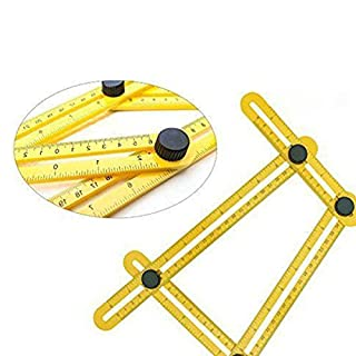 Universal Angularizer Ruler,Anano Easy Angle Ruler-Multi Angle Measuring Tool-Embedded ABS Bolts and Nuts-Angle Ruler for Engineer