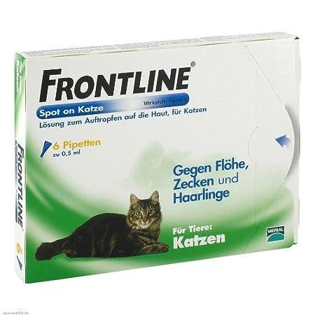 Frontline Spot On gegen Zecken und Flöhe bei Katzen