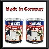 2 x 750 ml WILCKENS Fliesenlack WEISS glänzend