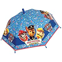 Chanos Paw Patrol Safety Runner Poe Embossed Folding Umbrella, 38 cm, Light Blue
