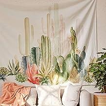 Jeteven Cactus tapiz de pared tapices colgante Toalla de playa Sala de estar Decoración de Arte Creativo 150x150cm 150x150cm