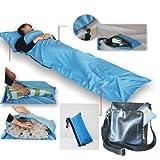 jXY Sac à couchage simple de la ligne de soie sac de couchage Voyage Mini de dépenses (Bleu ciel)