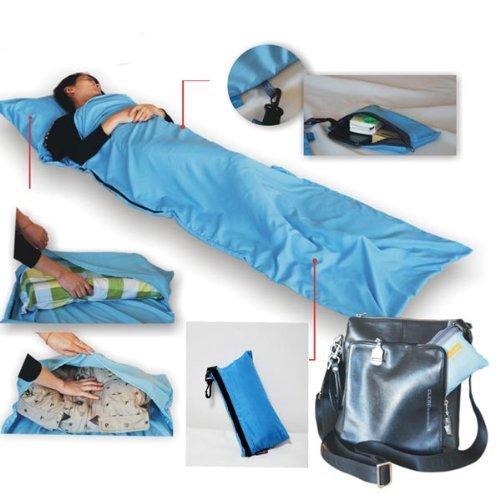 Preisvergleich Produktbild amyjazz Seide Single rutschsicher Schlafsack Camping Travel Mini Schlafsack (Sky Blau)