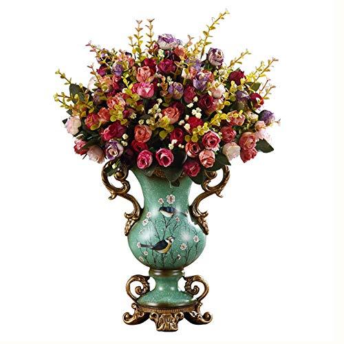 ZFF Vase Vintage Tabelle Mittelstücke Vase Harz Europäisch Veranda Seitenschrank Dekorativ Wohnzimmer Schlafzimmer Kunsthandwerk Verzierungen