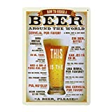 ROSENICE Lata Metal vintage de la pared muestra placa cartel para Cafe Bar Pub cerveza decoración de la pared
