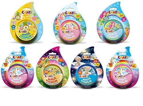 Craze Toys Craze Magic Dough Kinderknete Magische Knete 3er Bastelset Teig Knetteig 3X 40g 17173,...