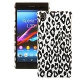 Ownstyle4you Hartschale Handyschale Hülle Cover Case Tasche für das Sony Xperia Z1 Honami inkl. Schutzfolie Snow Leo