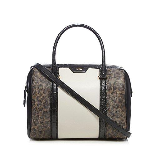 cavalli-class-womens-brown-colour-block-grab-bag