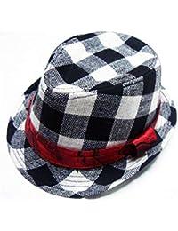 Casquette enfant Enfants Plaid Jazz Hat Enfants Bowler Chapeau Protection  Soleil Chapeau Pare-Soleil pour b17a6754f55