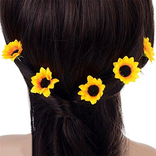 Frauen Girl 5x Sonnenblume Haarspange Party Beach Ball Brautschmuck Haarspange Haar Decor