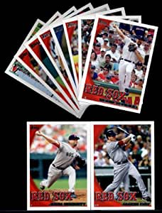 2010 Topps Baseball Cards Complete TEAM SET: Boston Red Sox (Series 1 & 2) 24 Cards Including Papelbon, Pedroia, Ellsbury, Ortiz, Hermida, Beckett, Youkilis, Martinez, Bay & More!!