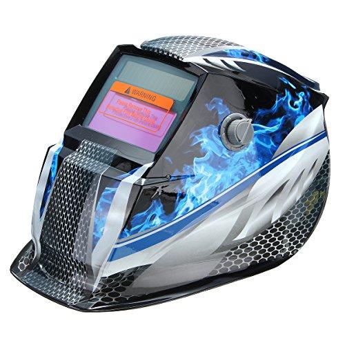 MASUNN Bleu Flamme Solar Auto Assombrissement Soudage Masque Casque Mode De Broyage Automatique
