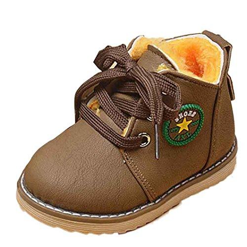 Größe Stiefel 13 Mädchen (Hunpta Mode Winter niedlichen jungen Mädchen Kind Armee Stil Martin Stiefel warme Schuhe (Alter: 12-18M,)