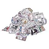 Hengxing Hengxing Vintage Sticker Stempel Aufkleber Gepäck Koffer Laptop Wasserdicht Aufkleber Kinderzimmer Dekor Etiketten (Retro 60 Stück)