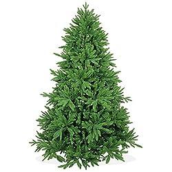 Künstlicher Weihnachtsbaum 210cm Deluxe In Premium Spritzguss Qualität, Grüne Nordmanntanne, Tannenbaum Mit Pe Kunststoff Nadeln, Nordmannstanne Christbaum