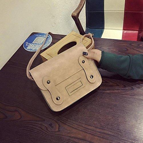 BZLine® Frauen Vintage kleine Handtaschen Kupplung Schultertaschen Messenger, 19cm *16cm *6cm Pink