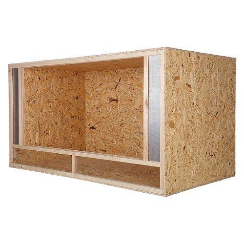 Terrarium aus Holz mit Frontbelüftung: erstklassiges Holzterrarium für Schlangen, Reptilien, Schildkröten, sehr einfache Montage, Maße: 150x80x80