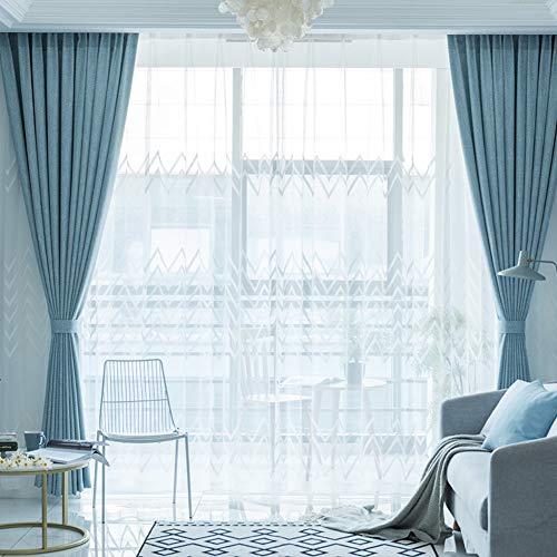 Be&xn tende oscuranti con fermatenda, tende della finestra per soggiorno camera da letto family room, lunghe tende finestra trattamento ganci, 1panel-cielo blu 270x350cm(106x138inch)