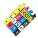 ColorJoy Tintenpatrone kompatibel für Epson Griffel S22 SX125 SX130 SX230 SX235W SX420W SX425W SX430W SX435W SX438W SX440W SX445W Office BX305F BX305FW Drucker Epson T1281 T1282 T1283 T1284 T1285(1 Geld+1 Magenta+1 Cyan+1 Schwarz)