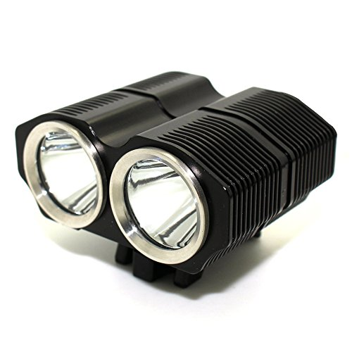 PLESONTECH 5000LM Super Hell CREE XM-L L2 LED Fahrradlampenset inkl. Akkupack und Ladegerät