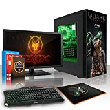Fierce NYX Quake Champions RGB Gaming PC Bundeln – Schnell 6 x 3.6GHz Hex-Core AMD Ryzen 5 1600, 2TB Festplatte, 8GB von 2133MHz DDR4 RAM / Speicher, NVIDIA GeForce GTX 1070 8GB, Gigabyte Aorus AX370-Gaming 5 Hauptplatine, GameMax Obsidian with 'Quake Champions' NYX HD Armour RGB Computergehäuse, HDMI, USB3, Wi – Fi, VR Bereit, 4K Bereit, Perfekt für High-End-Spiele, Windows nicht Enthalten, Tastatur (VK/QWERTY), Maus, 3x 24-Zoll-Monitor, Lautsprecher, 3 Jahre Garantie 703078 51arjSNa8RL