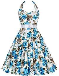Grace Karin 50s de Las Mujeres del Patrón Retro del Vestido - Vestido Floral Oscilación del Patinador de Vestir