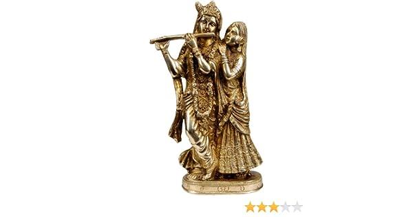 Exotic India Radha Krishna - Brass Statue