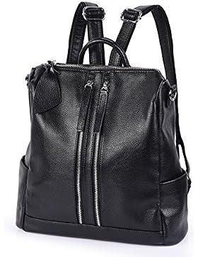 Vbiger Damen Rucksack Daypack Leder Rucksack Lederrucksack Damen Schulrucksack Rucksack Schule Damen Leder rucksack