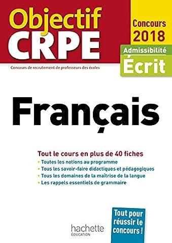 Objectif CRPE En Fiches Français -