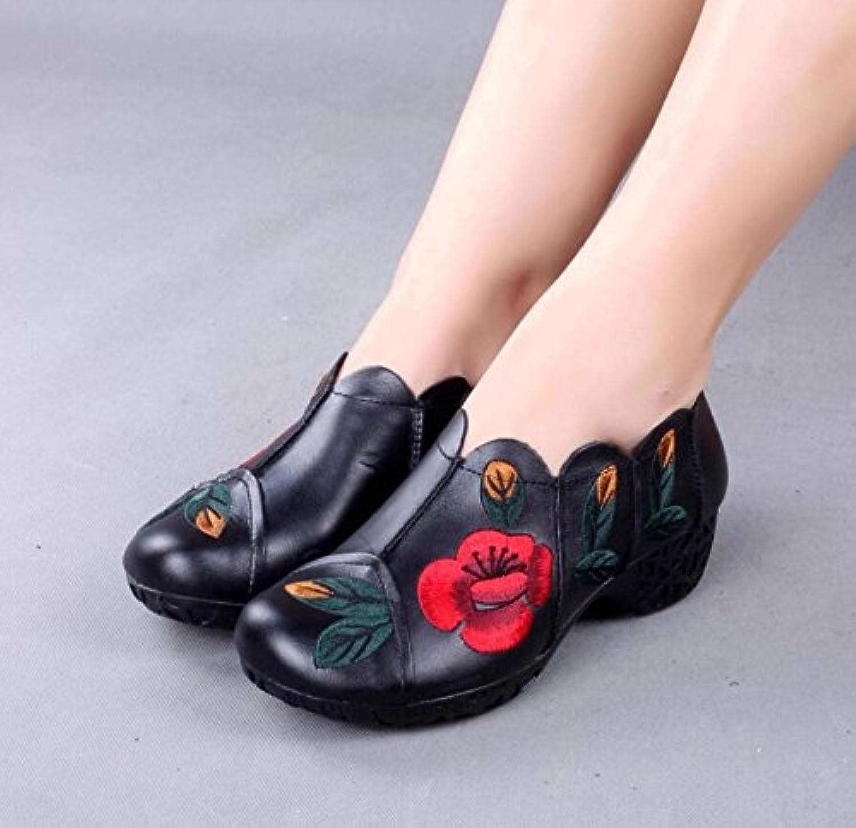 GTVERNH-En El Otoño, El Nuevo Hecho A Mano Zapatos De Mujer Son Con La National Wind Solo Zapatos, La Edad Media...