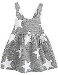 Vestido niña ❤️ Amlaiworld Vestido de fiesta a rayas sin mangas de verano para niñas bebé Casual Princesa Vestir Infantil niña 2 Años - 7 Años